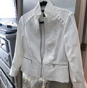 White House Black Market white jacket